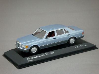 1/43 ミニチャンプス メルセデスベンツ 560 SEL 1984 (ライトブルーメタリック)