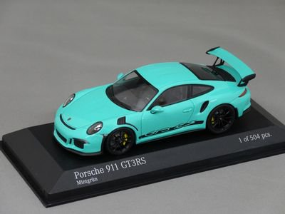 1/43 ミニチャンプス ポルシェ911(991) GT3 RS 2014(グリーン)