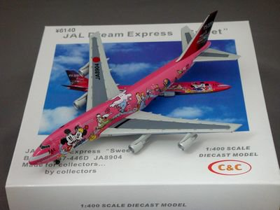 "1/400 C&C JAL Dream Express ""Sweet""  Boeing 747-446D"