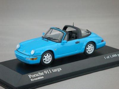 1/43 ミニチャンプス ポルシェ 911 タルガ 1991 (リビエラブルー)