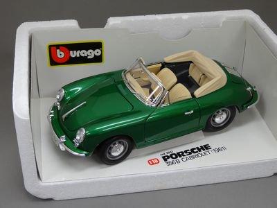 1/18 ブラーゴ ポルシェ 356B カブリオレ 1961 (グリーン)