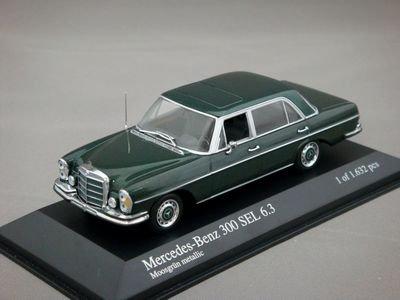 1/43 ミニチャンプス メルセデスベンツ 300 SEL 6.3 1968 (グリーンメタリック)