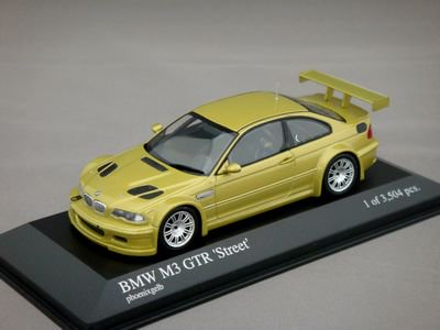 1/43 ミニチャンプス BMW M3 GTR ストリート 2001 (イエロー)