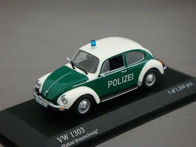 """1/43 ミニチャンプス VW 1303 1972 """"Polizei"""" (ホワイト/グリーン)"""