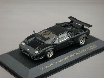 1/43 イクソ ランボルギーニ カウンタック 5000 QV 1988 999PCS (ブラックメタリック)