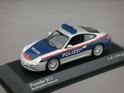 1/43 ミニチャンプス ポルシェ 911 2004 ポリス オーストリア (シルバー/ブルー)