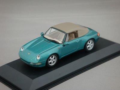 1/43 ミニチャンプス ポルシェ 911 カブリオレ 1994 ソフトトップ (グリーンメタリック)