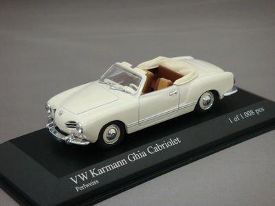 1/43 ミニチャンプス VW カルマンギア コンバーチブル (ホワイト)