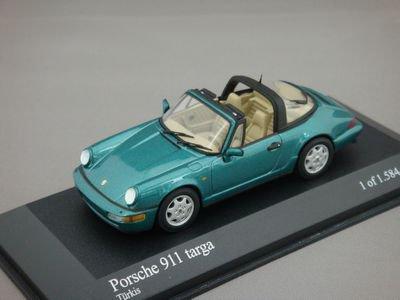 1/43 ミニチャンプス ポルシェ 911 タルガ 1990 (ターコイズ)