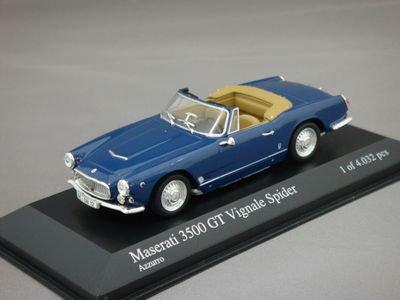1/43 ミニチャンプス マセラティ 3500 GT ヴィニャーレ スパイダー (ブルーメタリック)