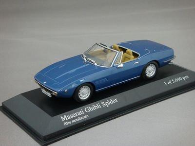 1/43 ミニチャンプス マセラティ ギブリ スパイダー 1969 (ブルーメタリック)