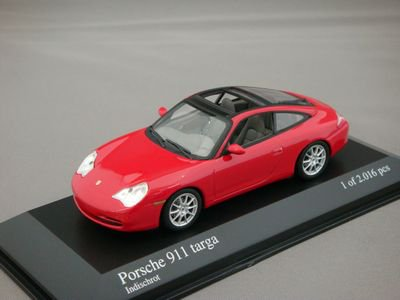 1/43 ミニチャンプス ポルシェ 911 タルガ 2001 (レッド)