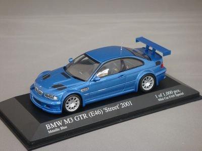 1/43 ミニチャンプス BMW M3 GTR(E46) ストリート 2001 (ブルー)