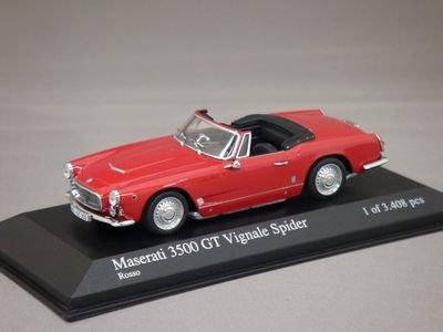 1/43 ミニチャンプス マセラティ 3500 GT ヴィニャーレ スパイダー 1961 (レッド)