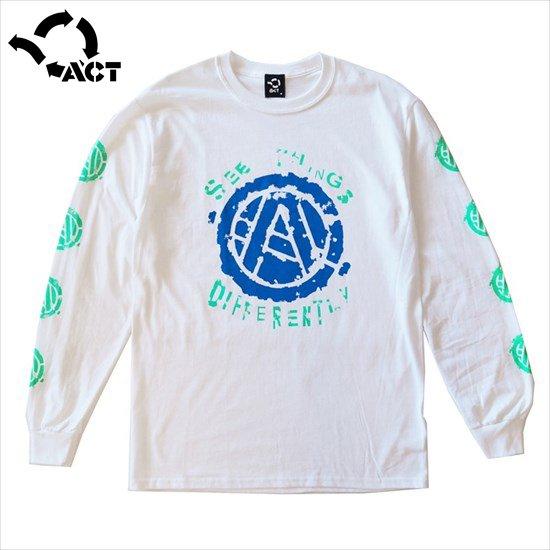 CIRCLE A ロンT - ACT -[ホワイト]
