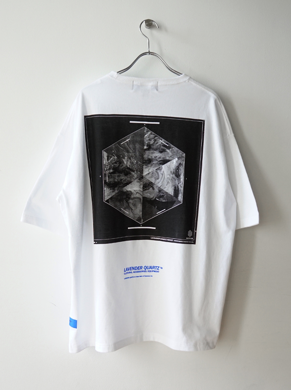 LAVENDER QUARTZ 19SS Crystal Structure Pocket Tee
