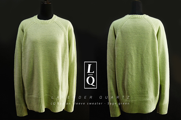 LAVENDER QUARTZ LQ Raglan sleeve sweater