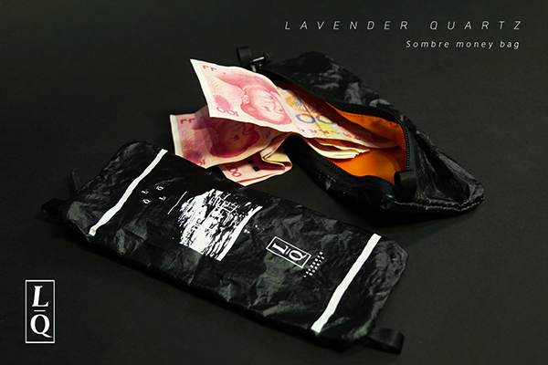 LAVENDER QUARTZ Sombre money bag