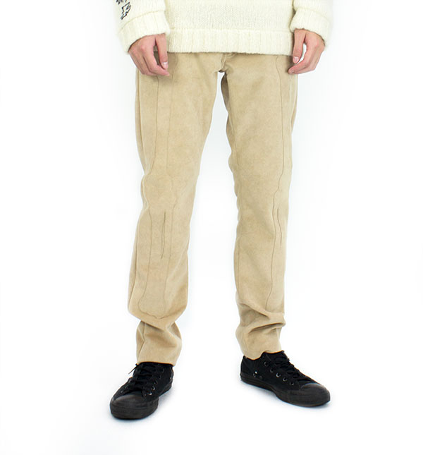 Fake suede 5-p pants