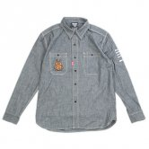 TURKY/Bon appetit Chambray shirts [Black]