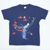 Whisper Not / 「PixelJunk Eden」T-shirt [Navy](Girl's M〜XL)