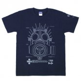 GAS MASK MANUAL of KAIMAN T-SHIRTS [navy]