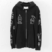 "【17SS】NADA.(ナダ)""GG allin tatoo zip parka"" (black) (パーカー)"
