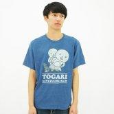 東京トガリ/インディゴティシャツ [light indigo](トガリとぬいぐるくん)(Tシャツ)