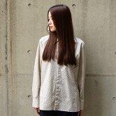【18AW】hatra(ハトラ) Micro Paisley Shirt [BEIGE](トップス)