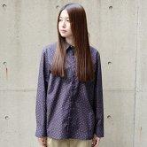 【18AW】hatra(ハトラ) Micro Paisley Shirt [NAVY](トップス)