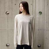 【18AW】hatra(ハトラ) HHKS Long sleeve Tee [BEIGE](トップス)