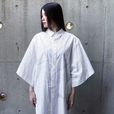 【19SS】hatra(ハトラ) Blur Roll Over Shirt [WHITE](トップス)