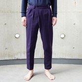 【19SS】hatra(ハトラ) Wrap Pants 2C [PURPLE](ボトムス)
