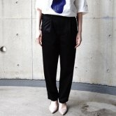 【20SS】HATRA(ハトラ) Moc Jersey Trousers [BLACK](ボトムス)