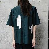 <img class='new_mark_img1' src='https://img.shop-pro.jp/img/new/icons1.gif' style='border:none;display:inline;margin:0px;padding:0px;width:auto;' />【21SS】HATRA(ハトラ) Tri Organ Shirt [GREEN](トップス)