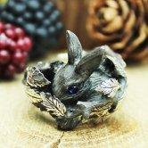 DECOvienya ウサギ隠れ家リング(ブラック)