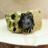 DECOvienya ネズミとチーズのリング