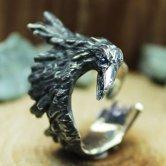 DECOvienya 傷ついたカラスのリング(ブラック)