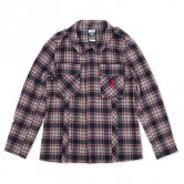 KIKURAGE / Wool Blended Field Jacket (red)