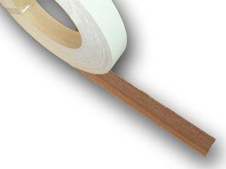 木口用ツキ板テープ「ウォールナット」幅12〜46ミリ×長さ50m巻き【粘着テープ付き】