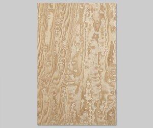 【タモ玉杢】A4サイズ(和紙貼り/糊なし)天然木のツキ板シート「ノーマルタイプ」
