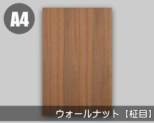 天然木のツキ板シート【ウォールナット柾目】(SSサイズ)0.3ミリ厚Normalタイプ(和紙貼り/糊なし)