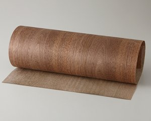 ツキ板 シート【Wナット板目】0.4ミリ厚*450*900:Sサイズ[Quickタイプ](和紙貼り/粘着付き)