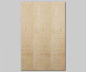 【カーリーメープル柾目】A4サイズ(シール付き)天然木のツキ板シート「クイックタイプ」