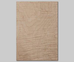 【カーリーメープル杢目】A4サイズ(シール付き)天然木のツキ板シート「クイックタイプ」