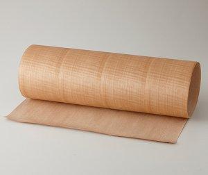 【サテンシカモア柾目】A4サイズ(シール付き)天然木のツキ板シート「クイックタイプ」