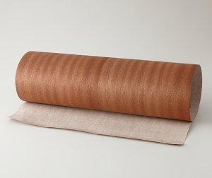ツキ板 シート【サペリ柾目】0.4ミリ厚*450*900:Sサイズ[Quickタイプ](和紙貼り/粘着付き)