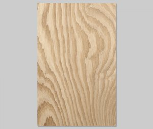 【タモ杢目】A4サイズ(シール付き)天然木のツキ板シート「クイックタイプ」