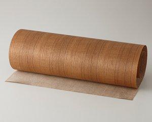 ツキ板 シート【チーク柾目】0.4ミリ厚*450*900:Sサイズ[Quickタイプ](和紙貼り/粘着付き)
