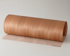 ツキ板 シート【マホガニー柾目】0.4ミリ厚*450*900:Sサイズ[Quick](和紙貼り/粘着付き)